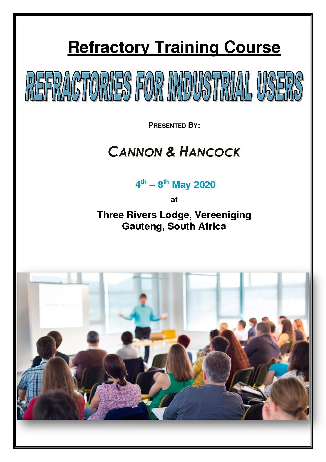 Refractories for Industrial Users - New Dates Announced May 2020